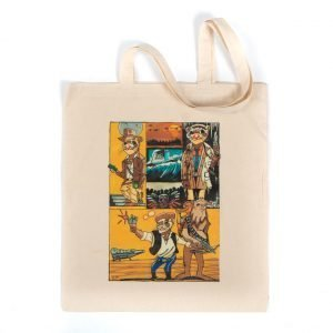 Large tote bag with 'Harrison Ferret' design