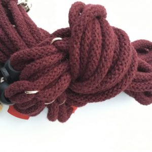 Deluxe chunky figure of 8 harness – Mighty Maroon
