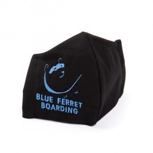Blue Ferret Boarding embroidered face mask