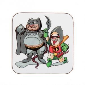 "Coaster: ""Hoo-man and Redin"" design"