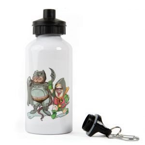 "Water Bottle: ""Hoo-man & Redin"" design"