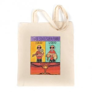 Large tote bag with 'Three States of a Ferret' design